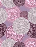Medallions - seamless pattern. Abstract vintage seamless vector pattern Stock Photos