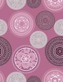 Medallions - seamless pattern. Abstract vintage seamless vector pattern Stock Images
