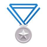 Medallista de plata Fotografía de archivo