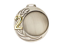 Medallista de plata imagen de archivo libre de regalías