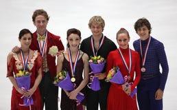 medallists s льда танцульки Стоковое Изображение RF