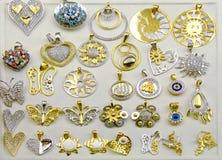 Medallones del oro fotos de archivo libres de regalías