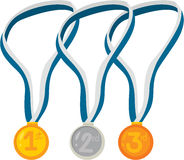 Medals. Illustration of medals on white Royalty Free Stock Photography