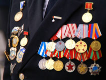 Medals. Veterans celebtrating May 9 victory day royalty free stock images