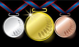 Medals. The abstract of Medals in ai versions (ai/10), vector format Stock Image