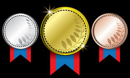 Medals. The abstract of Medals in ai versions (ai/10), vector format Royalty Free Stock Images