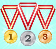 Medals-3 vector illustration