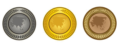 The medals Royalty Free Stock Images