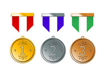 Medals of Achievement Stock Images