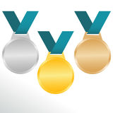 Medals. For awarding olympics champions Stock Image