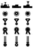 Medals awards icons set Stock Images