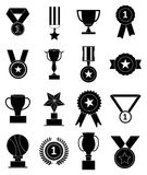 Medals awards icons set Royalty Free Stock Photo