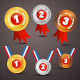 Medals Awards Vector Set Stock Photography