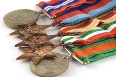 Medals for Bravery Stock Photography