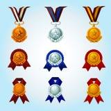 Medals Cartoon Set Stock Photos