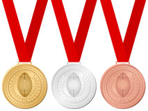Medals football Royalty Free Stock Image
