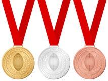 Medals football vector illustration