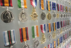 Medals of Honour at Shrine of Remembrance. In Melbourne Australia Stock Photography