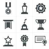 Medals icons Stock Photos