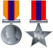 Medals isolated on white Stock Photography