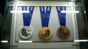 Medals of Olympic Games in Russia, Sochi Royalty Free Stock Photos