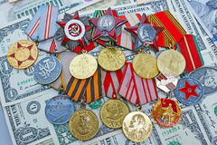 Medals and orders  in the US Royalty Free Stock Photos