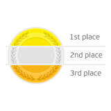 Medals with place for name. Royalty Free Stock Photo