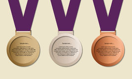 Medals in ribbon Royalty Free Stock Image
