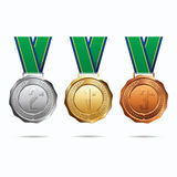 Medals with Ribbon. Brazil. Royalty Free Stock Photography