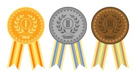 Medals with ribbons Stock Photo
