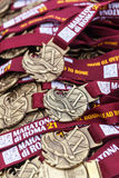 Medals of the Rome Marathon Royalty Free Stock Photo