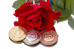 Medals and Rose Stock Photos