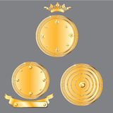 Medals set. Detailed illustration of  medals Stock Photography