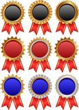 Medals. Set of isolated award medals Stock Photos