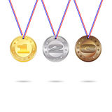 Medals set with ribbon Royalty Free Stock Image