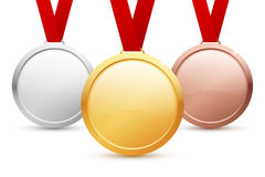 Medals Set Royalty Free Stock Photos