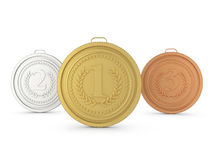 Medals set Stock Image