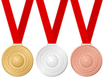 Medals soccer Royalty Free Stock Photos