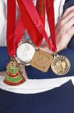 Medals from softball competition Stock Image