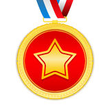 Medals with Star Royalty Free Stock Photography