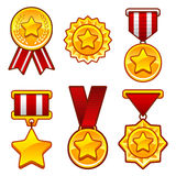 Medals with star Stock Images