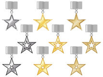 Medals with the stars Royalty Free Stock Photography