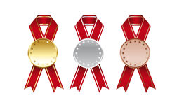 Medals with three colors Royalty Free Stock Photo