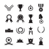Medals and trophy award. For winner Stock Images