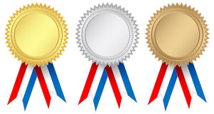 Medals. Vector illustration of award medals Royalty Free Stock Photography