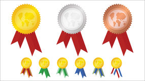 Medals. Vector illustration award of medals Stock Photos