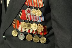 Medals of the war veteran Stock Images