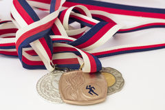 Medals on a white background Stock Images