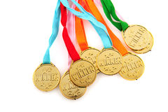 Medals for the winner Royalty Free Stock Photo