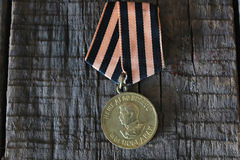 Medals world war great composition. Old military awards to participants of military operations during the Second World War Royalty Free Stock Image
